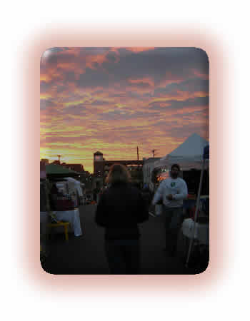 Morning sunrise at the Farmers' Market